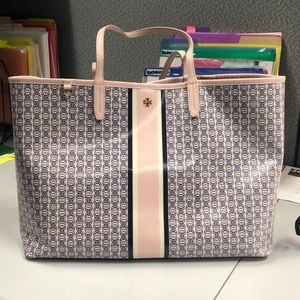 Tory Burch Gemini Link Coated canvas tote pink